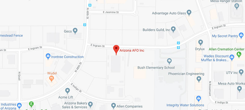 Map of AZ AFO Headquarters